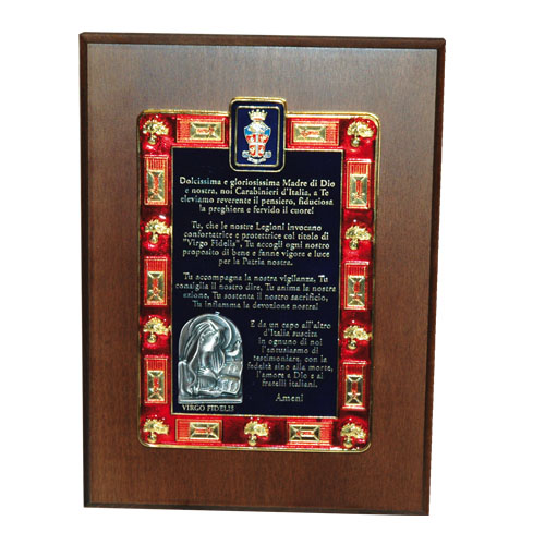 Crest preghiera del Carabiniere